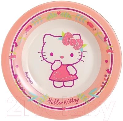 printio сумка hello kitty Тарелка закусочная (десертная) Luminarc Hello Kitty Nordic Flower / J0036
