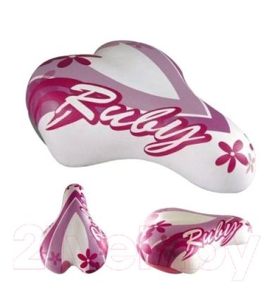 Сиденье велосипеда DDK Ruby / 1217A (белый/розовый)