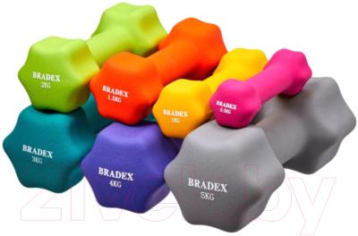 Гантель Bradex SF 0540 (1кг, желтый)