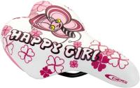 Сиденье велосипеда DDK Happy Girl / 1217A (белый/розовый) -