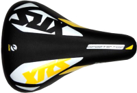 Сиденье велосипеда DDK XRS / 1212A (черный/белый/желтый) -