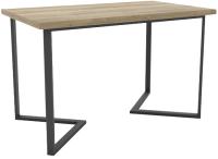 Обеденный стол Hype Mebel Дельта 110x70 (черный/дуб галифакс натуральный) -