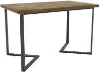 Обеденный стол Hype Mebel Дельта 125x75 (черный/дуб галифакс олово) -