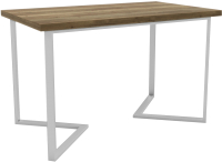 Обеденный стол Hype Mebel Дельта 125x75 (белый/дуб галифакс олово) -