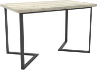 Обеденный стол Hype Mebel Дельта 125x75 (черный/древесина белая) -