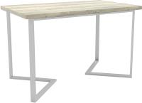 Обеденный стол Hype Mebel Дельта 125x75 (белый/древесина белая) -
