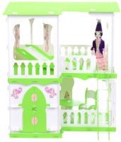 Кукольный домик Krasatoys Дом Алсу с мебелью / 000279 (белый/салатовый) -