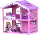 Кукольный домик Krasatoys Дом Анжелика с мебелью / 000255 (розовый/сиреневый) -