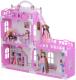 Кукольный домик Krasatoys Дом Анна с мебелью / 000268 (белый/розовый) -