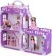 Кукольный домик Krasatoys Дом Анна с мебелью / 000269 (белый/сиреневый) -