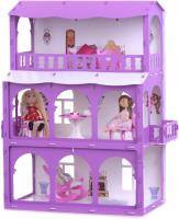Кукольный домик Krasatoys Дом Бриджит с мебелью / 000285 (белый/сиреневый) -