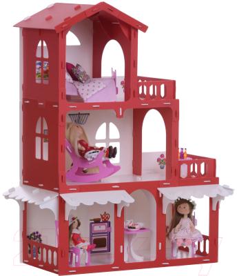 Кукольный домик Krasatoys Дом Николь с мебелью / 000288