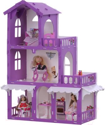 Кукольный домик Krasatoys Дом Николь с мебелью / 000287