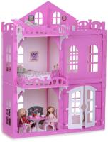 Кукольный домик Krasatoys Дом Элизабет с мебелью / 000290 (белый/розовый) -