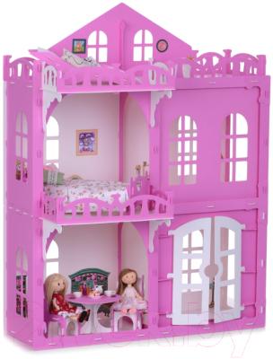 Кукольный домик Krasatoys Дом Элизабет с мебелью / 000290