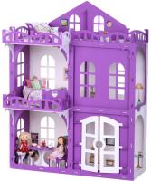 Кукольный домик Krasatoys Дом Элизабет с мебелью / 000289 (белый/сиреневый) -