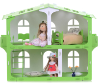 Кукольный домик Krasatoys Загородный дом София с мебелью / 000264 (белый/салатовый) -