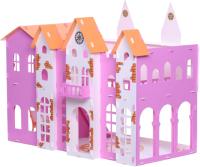 Кукольный домик Krasatoys Замок Джульетты с мебелью / 000261 (белый/розовый) -