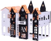 Кукольный домик Krasatoys Замок Джульетты с мебелью / 000260 (белый/черный) -