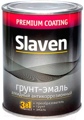 Эмаль Slaven По ржавчине (3.2кг, коричневый)