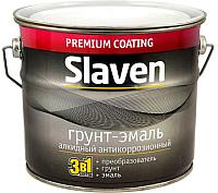Эмаль Slaven По ржавчине (20кг, серый) -