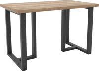 Обеденный стол Hype Mebel Триног 125x75 (черный/дуб галифакс натуральный) -
