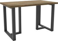 Обеденный стол Hype Mebel Триног 125x75 (черный/дуб галифакс олово) -