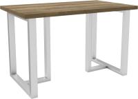 Обеденный стол Hype Mebel Триног 125x75 (белый/дуб галифакс олово) -
