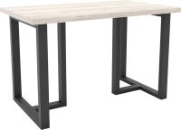 Обеденный стол Hype Mebel Триног 125x75 (черный/древесина белая) -