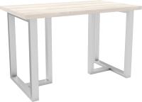 Обеденный стол Hype Mebel Триног 125x75 (белый/древесина белая) -