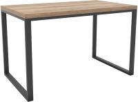 Обеденный стол Hype Mebel Чикаго 110x70 (черный/дуб галифакс натуральный) -
