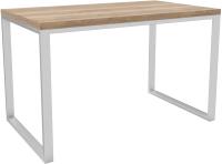 Обеденный стол Hype Mebel Чикаго 110x70 (белый/дуб галифакс натуральный) -