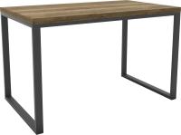 Обеденный стол Hype Mebel Чикаго 110x70 (черный/дуб галифакс олово) -