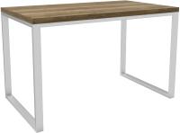 Обеденный стол Hype Mebel Чикаго 110x70 (белый/дуб галифакс олово) -