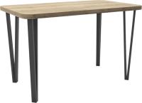 Обеденный стол Hype Mebel Польский 110x70 (черный/дуб галифакс натуральный) -