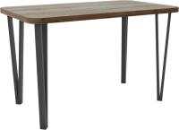 Обеденный стол Hype Mebel Польский 110x70 (черный/дуб галифакс олово) -