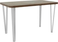 Обеденный стол Hype Mebel Польский 110x70 (белый/дуб галифакс олово) -