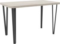 Обеденный стол Hype Mebel Польский 110x70 (черный/древесина белая) -