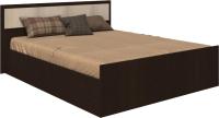 Двуспальная кровать Rikko Камелия 160x200 (венге/дуб атланта) -
