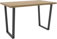 Обеденный стол Hype Mebel Трапеция 110x70 (черный/дуб галифакс олово) -