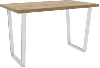 Обеденный стол Hype Mebel Трапеция 110x70 (белый/дуб галифакс олово) -