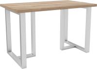 Обеденный стол Hype Mebel Триног 110x70 (белый/дуб галифакс натуральный) -