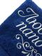Полотенце Fainy Любимый папочка с вышивкой (70x140, темно-синий) -