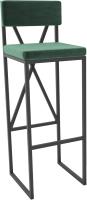 Стул барный Hype Mebel Грос (черный/зеленый) -