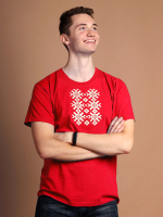 Футболка Fainy Ярыла с вышивкой мужская (XL/52, красный) -