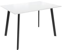 Обеденный стол Listvig Слим 2 110x70 (белый/черный) -