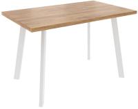 Обеденный стол Listvig Фин 120-152x70 (дуб/белый) -