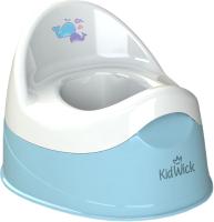Детский горшок Kidwick Дуэт / KW100204 (голубой/белый) -