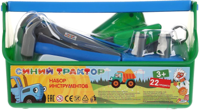 Набор инструментов игрушечный Играем вместе Синий Трактор / B619659-R2