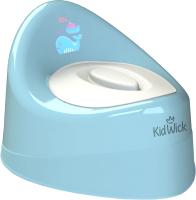 Детский горшок Kidwick Ракушка / KW030202 (голубой/белый) -
